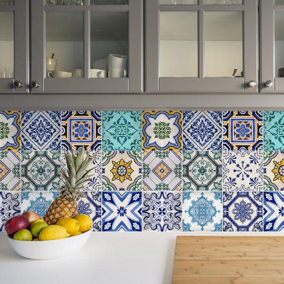 Tradicional azulejo Español calcomanías Set de pegatinas de