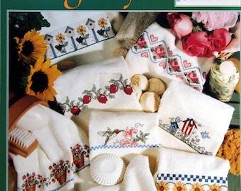 Favorite Fingertips 16 Designs By Jane Chandler Vintage Cross Stitch Pattern Leaflet 1996