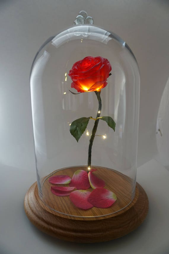 Disney Enchanted Rose Beauty and the Beast Life Size Gift