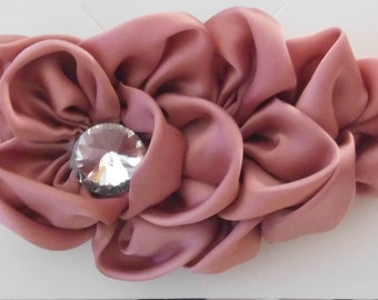 Large Satin Flower Headbands