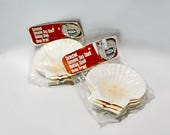 Two Packages Baking Scallop Sea Food Serving Shells Vintage Baking Japan