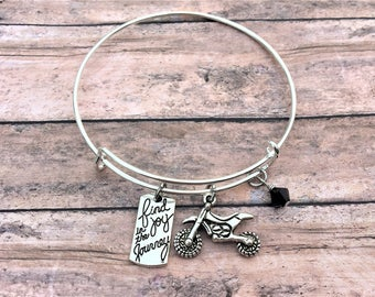 Motorcycle Gifts - Dirt Bike Jewelry - Motorcycle Jewelry - Gift for Her - Quad Jewelry - Motocross - Girls Who Ride - Life Is A Journey