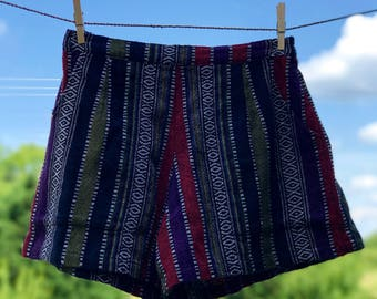 Comfy Woven Shorts: Olive Grove