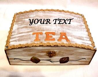 Wooden Tea Box, Tea Organizer, Wood Tea Bag Organizer, Tea Infuser, Wood Tea Box, Customized Tea Box, Personalized Tea Box, Gift Mom Tea Box