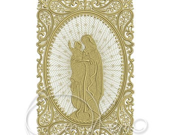 MACHINE EMBROIDERY DESIGN - Blessed Virgin Mary with Baby Jesus