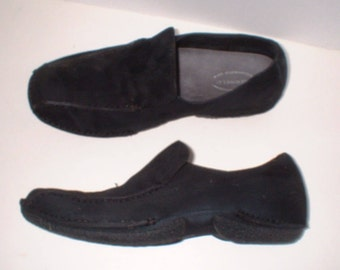 Merrell Air Cushioned Black Suede Loafer Style Sneakers Shoes Size 8.5 M VGC