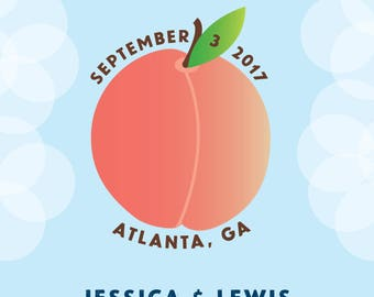 Georgia Peach Save the Date Card - DIGITAL DOWNLOAD