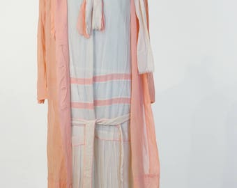 Lot of four 1920s-30s dress in need of TLC