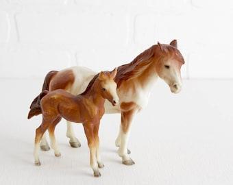 Vintage Breyer Mustang Mare and Foal, Classic Breyer Pair #3065