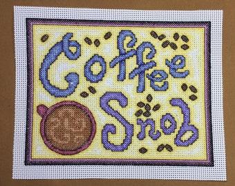 Cross Stitch Pattern - Coffee Snob (downloadable pdf)