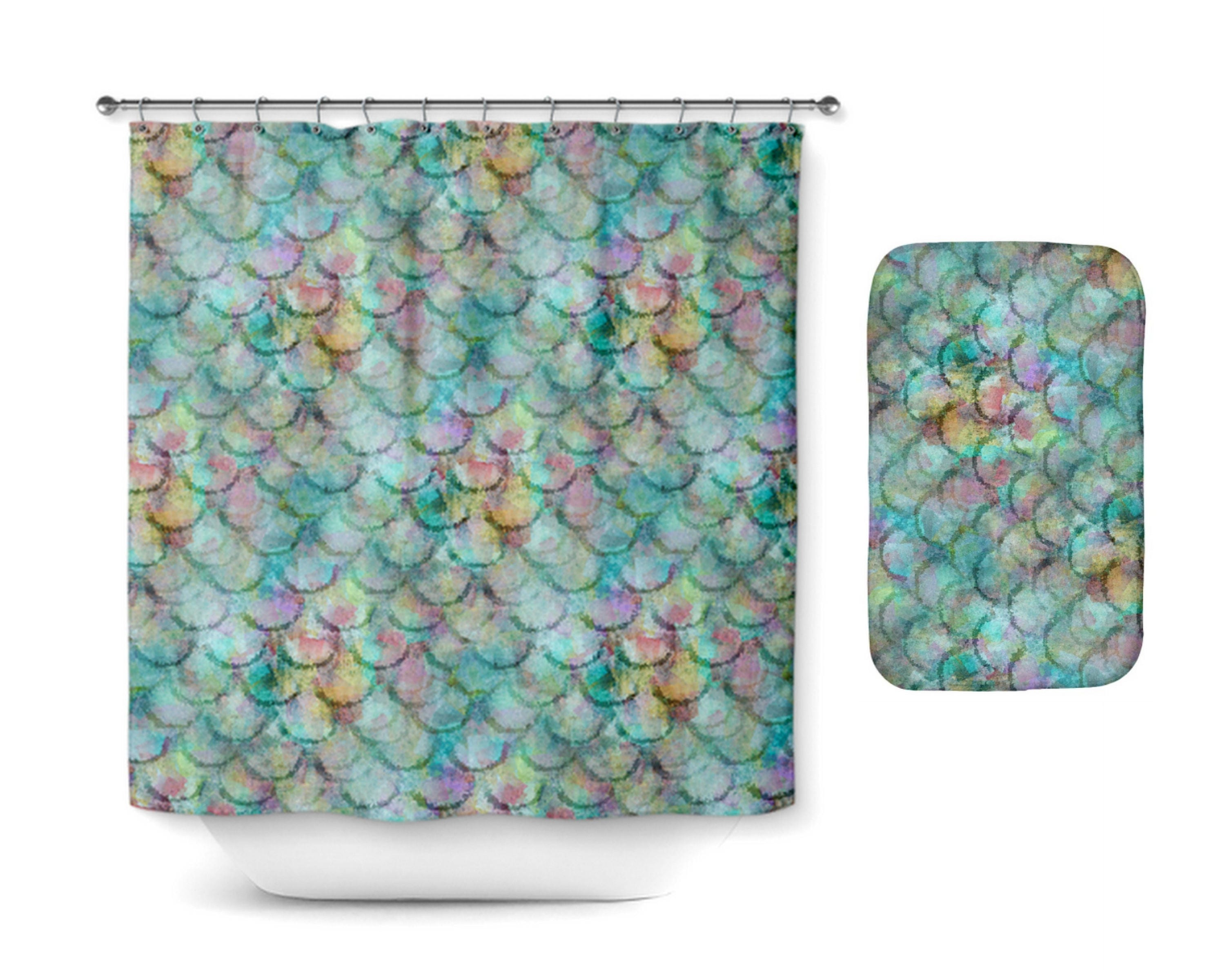 Shower Curtain Etsy - Mint green shower curtain