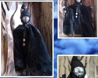 Wraith, Zombie Doll, Macabre Doll, Monster High Remake Art Doll, Horror Doll, Creepy Grim Reaper, Halloween Doll, Doll Art, OOAK
