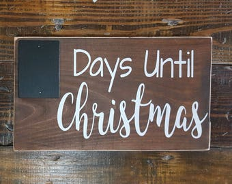 Days Until Christmas Sign, Christmas Countdown Chalkboard, Christmas Decor, Holiday Sign, Christmas Wooden Sign, Christmas Countdown Sign,