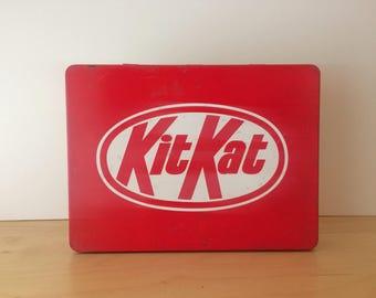 Vintage Kit Kat Chocolate Storage Tin- 1980s