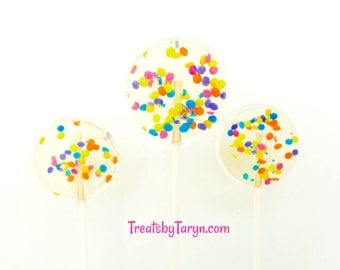 Candy lollipops. Lollipops. sweet treats. custom pops. Candy lollipops. Birthday lollipops. birthday favors. kids desserts. kids bday
