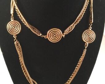 YSL Yves Saint Laurent authentic vintage gold tone necklace, circa 1980's