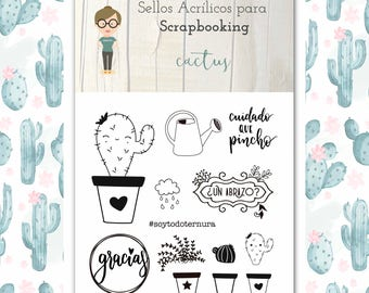 Clear Stamp Set CACTUS in Spanish