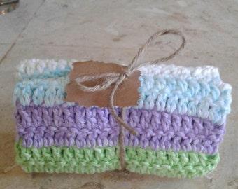 Crocheted 100% Cotton Cloth - Size: 9 X 9 - Multi-Purpose Cloth - Crocheted Wash cloth- Crocheted Spa Cloth- Crocheted Dish cloth