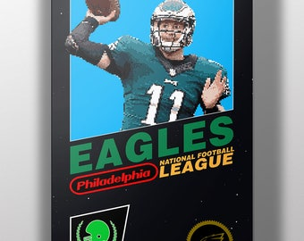 Philadelphia Eagles Retro NES Box Art Print- Carson Wentz