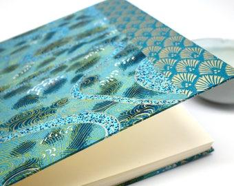 "Square Scrapbook papers ""blue art deco"" - album wedding photographs or guest book"