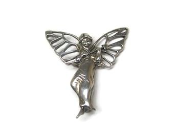 Vintage Sterling Fairy Godmother Brooch