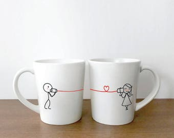 Girlfriend Gift, Wife Gift, Valentines Day Gift for Her, Couple Coffee Mugs, Couple Gifts, BoldLoft Say I Love You His and Hers Mugs