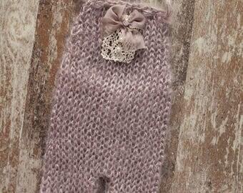 Knit Newborn Romper, Newborn Girl Prop, Newborn Photography Prop