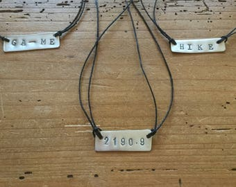 Appalachian Trail hiker pendant necklace