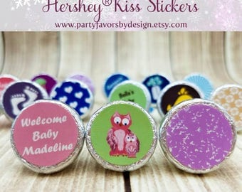 Custom Baby Shower Gifts for Guests | Baby Shower Thank You Gifts | Baby Shower Souvenirs | 108 Hershey® Kiss Stickers