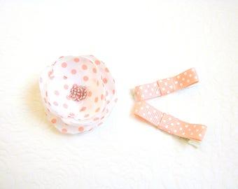 Peach Baby hair clips Peach hair clips flower Baby non-slip clips Flower baby hair clip Toddler hair clips Baby gift idea Infant hair clips