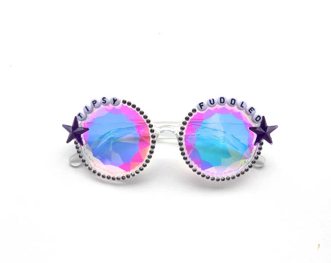 "Phish Fluffhead ""Tipsy Fuddled"" kaleidoscope glasses, psychedelic diffraction glasses, funky festival eyewear"