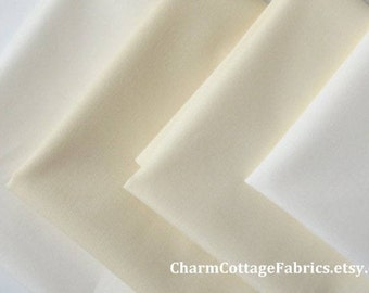 """SALE White Shades Fat Quarter Bundle of 4 Shades of White """"Neutral"""" Colors Bella Solids Moda Fabrics 100% Quilter's Cotton"""