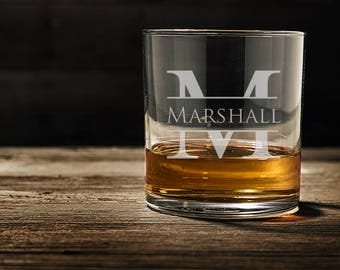 Wedding Gifts for Him, Personalized Whiskey Glasses, Gifts for Dad, Rocks Glass, Custom Whiskey Glass, Engraved Whiskey Glass, WG101