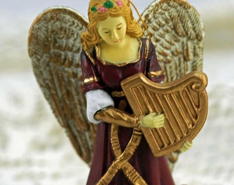 Vintage Christmas Tree Angel Ornament Assemblage #332-AS