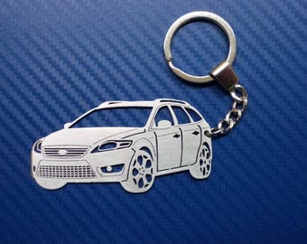 Ford Mondeo 2008 Key chain, Personalized Keychain, Car Keychain, Keychain Ford, Custom Keychain, Stainless Steel Keyring, Original Gift