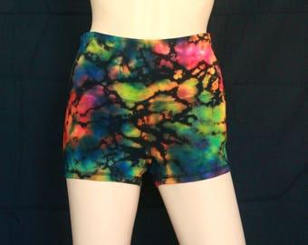 Ladies M Reverse Tie Dye Cotton Booty Shorts