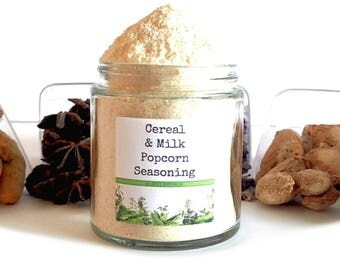 Cereal & Milk Gourmet Popcorn Seasoning Spice Mix Topping Flavoring Glaze Coating Foodie Gift