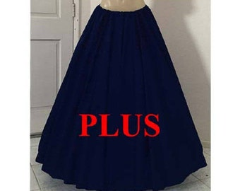 RENAISSANCE PLUS SIZE Medieval Womens Clothing Civil War Pirate Wench Fairy Gypsy Boho Halloween Costume Skirt 11 Colors