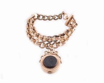 Victorian Gold Filled Charm Bracelet
