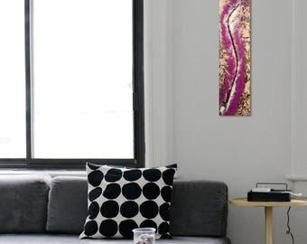 Purple wall art Etsy