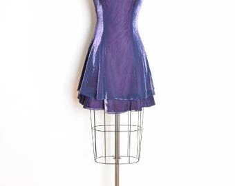 vintage 90s dress, metallic dress, iridescent dress, purple dress, 90s prom dress, 90s clothing, princess dress, goth dress, shiny dress, S