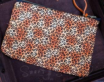 Animal Cheetah Print Pencil Case, Bag, Pouch  RTS