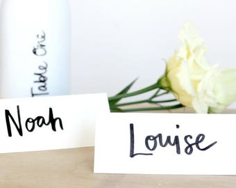 Wedding place name cards - hand lettered place names / personalised wedding place cards / wedding name tags / bespoke place names