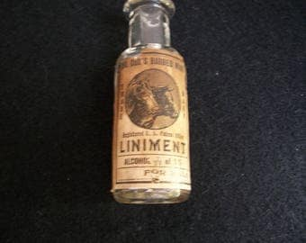 Dr Cox Barbed Wire Linament - Vintage Medicine Bottle - Free Sample Bottle