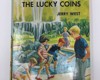 Vintage Happy Hollisters and the Secret of the Lucky Coins by Jerry West, First Edition, 1962