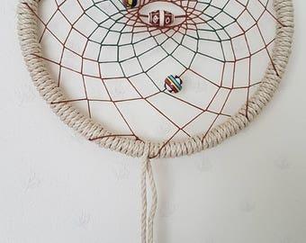 Natural Tribal Large Hemp Dream-catcher