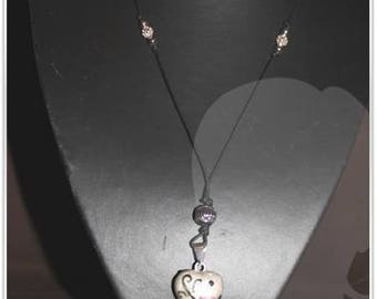 Pink flower and swarovski heart shape Bola of pregnancy