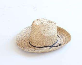 straw cowboy hat vintage 1970s