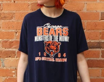 Chicago Bears Monsters of the Midway 1984 NFC Central Champ Vintage T-Shirt