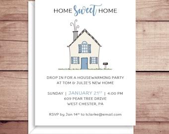 Housewarming Invitations - Open House - House Invitations - New Home - House Moving Invitation